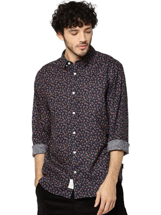 Jack & Jones Men Casual Blue Shirt