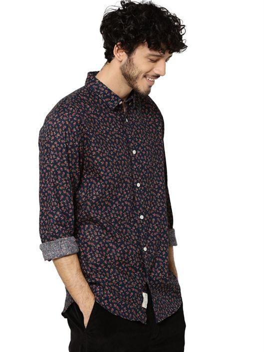 Jack & Jones Men Casual Wear Printed Shirt