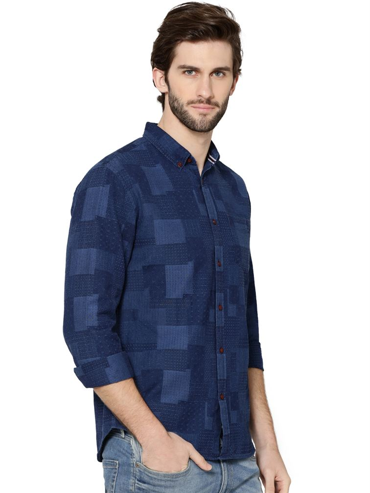 Jack & Jones Men Casual Wear Solid Shirt