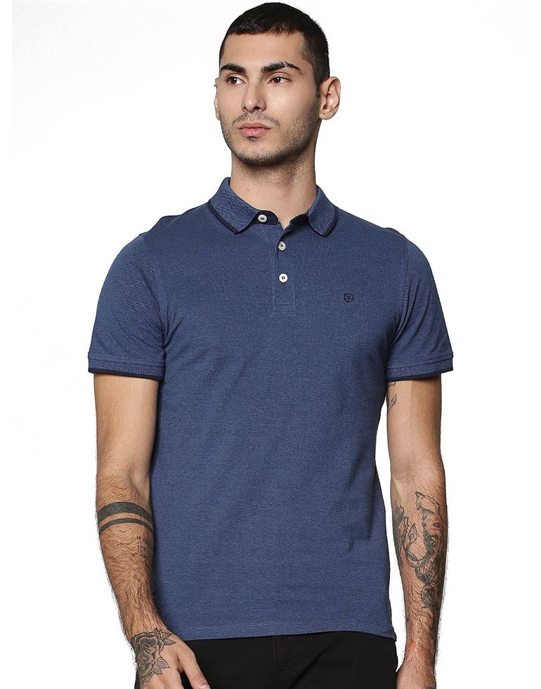 Jack & Jones Men Blue T-shirt