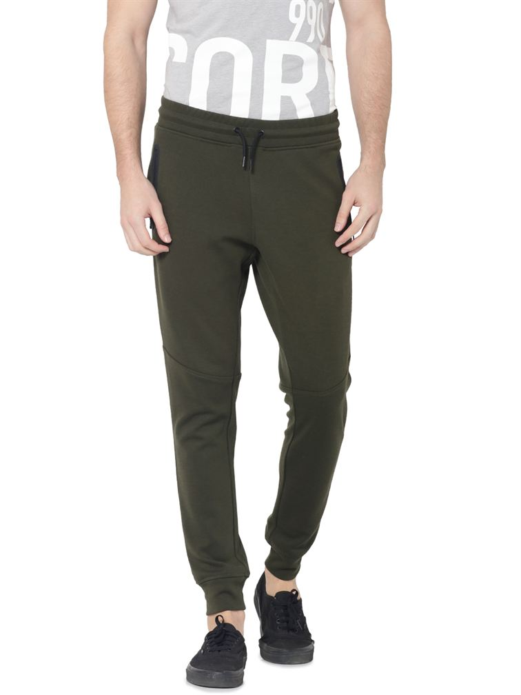 Jack & Jones Men Green Pant