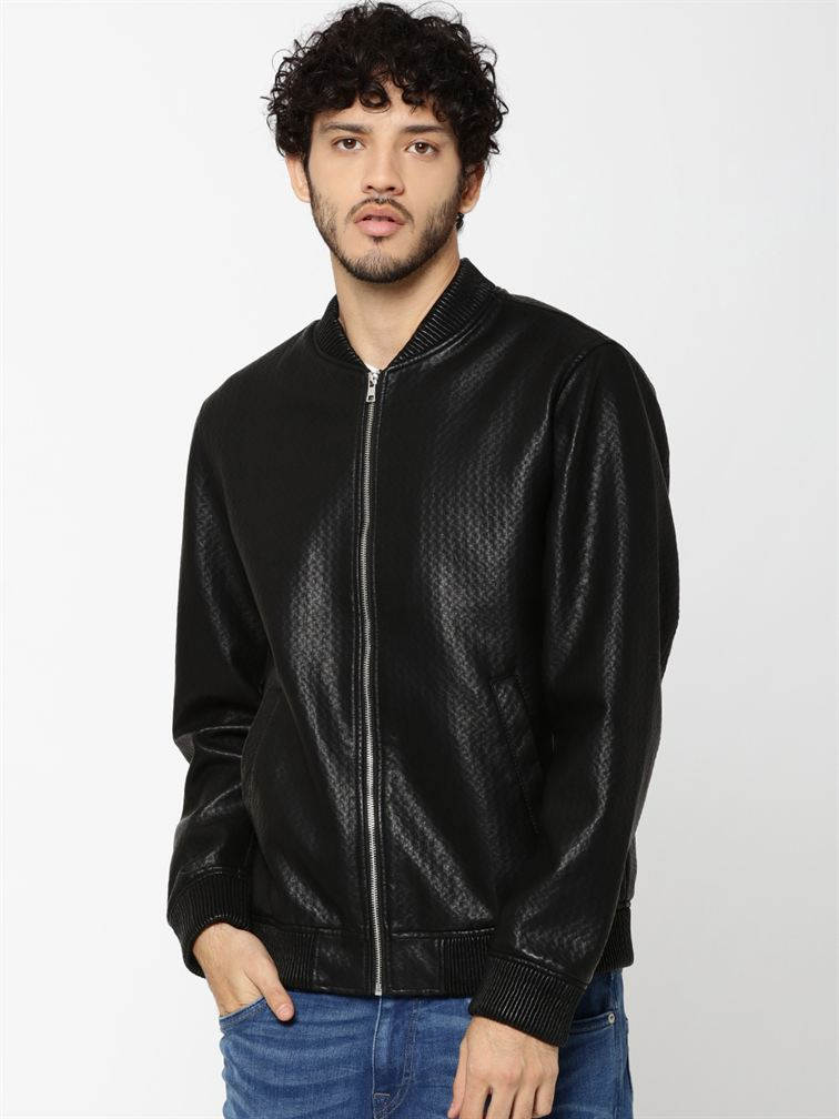 Jack & Jones Men Casual Black Jacket