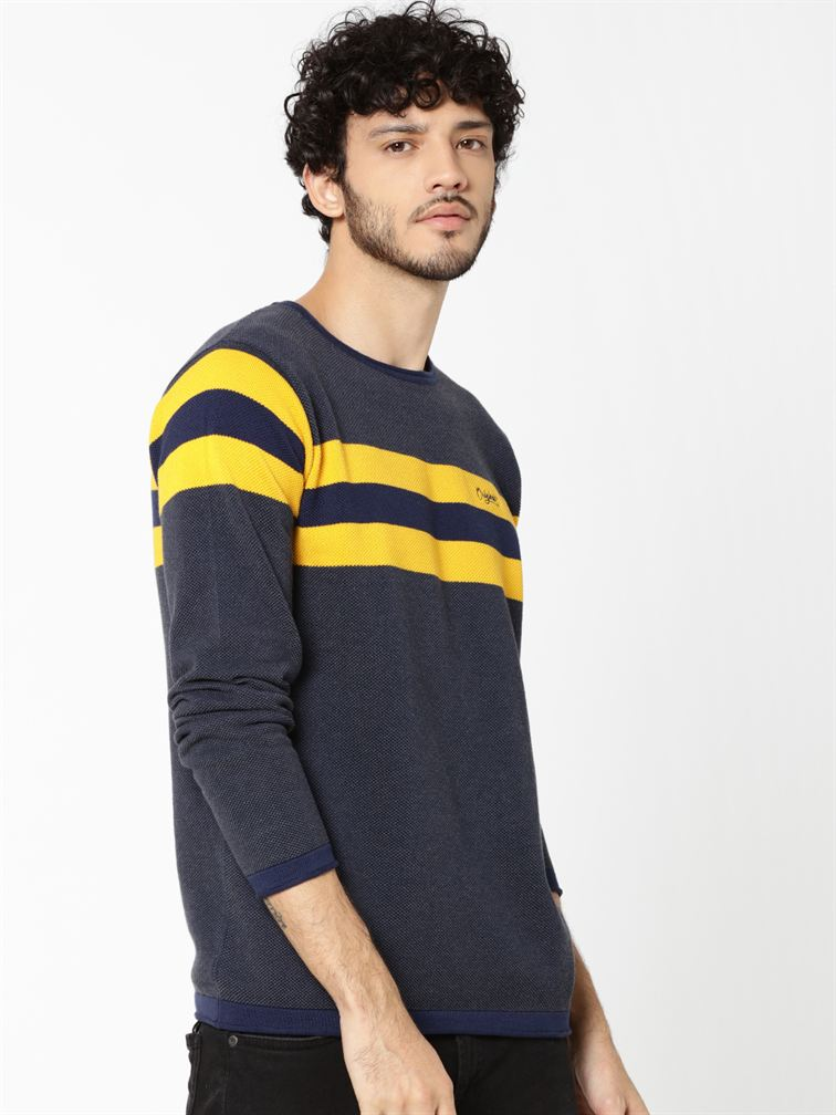 Jack & Jones Men Casual Yellow Cardigan
