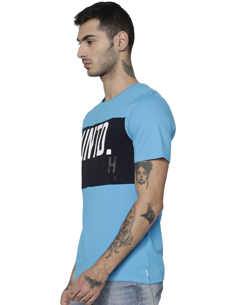 Jack & Jones Men Casual Blue T-shirt