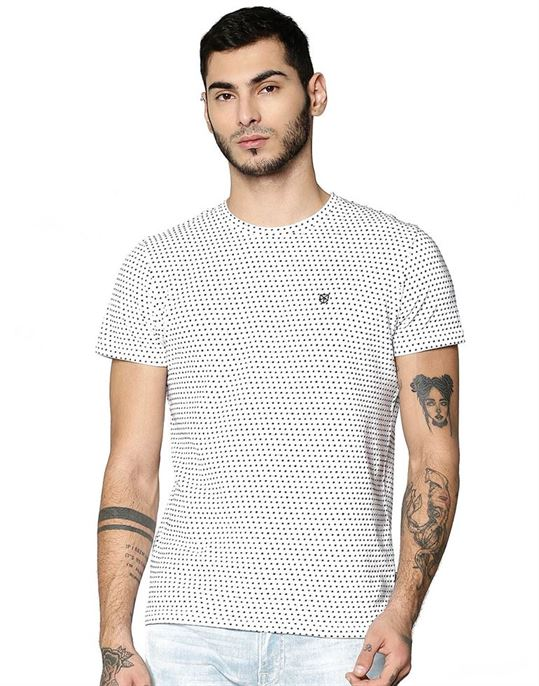 Jack & Jones Casual Polka Print Men T-Shirt