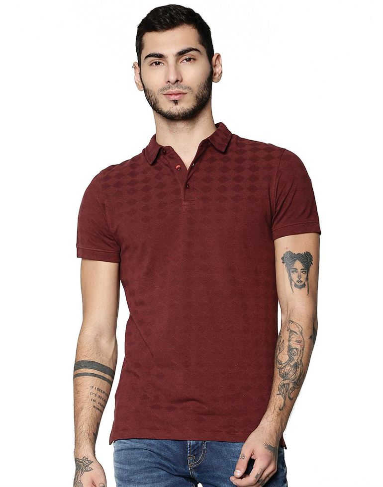 Jack & Jones Casual Geometric Print Men T-Shirt