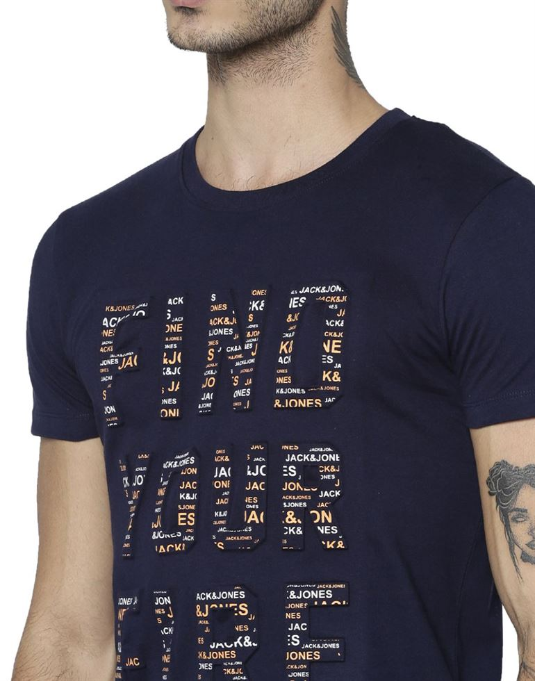Jack & Jones Casual Graphic Print Men T-Shirt