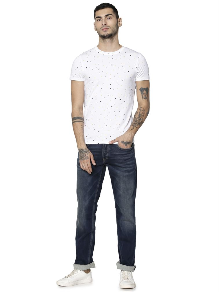 Jack & Jones Men Casual Wear Solid Jean