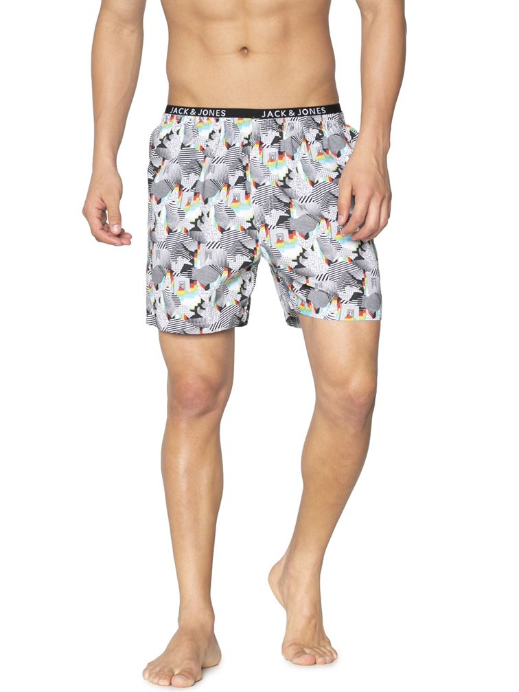 Jack & Jones Men Casual Wear Printed Boxer