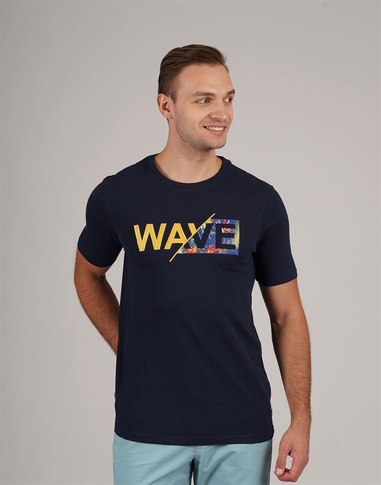 Jack & Jones Men Casual Wear Chest Print T-Shirt
