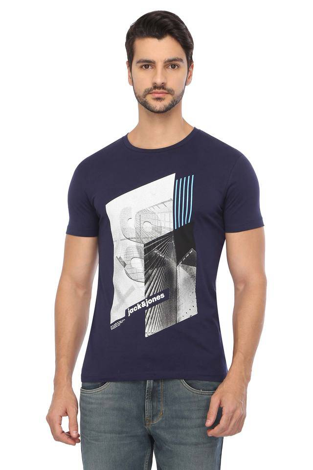 Jack & Jones Men Graphic Print Casual Wear T-Shirt