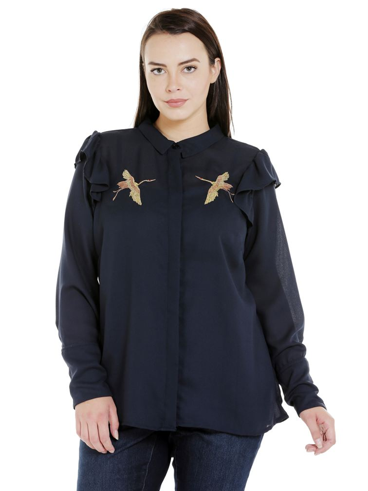 Junarose Casual Embroidered Women Shirt