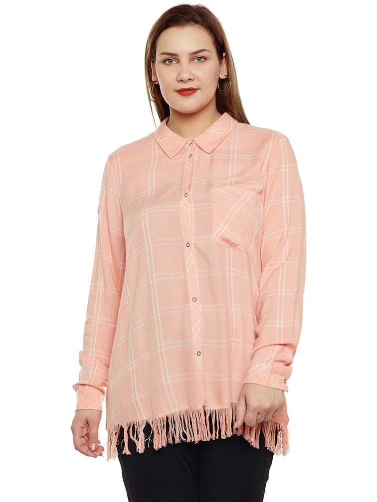 Junarose Casual Checkered Women Shirt