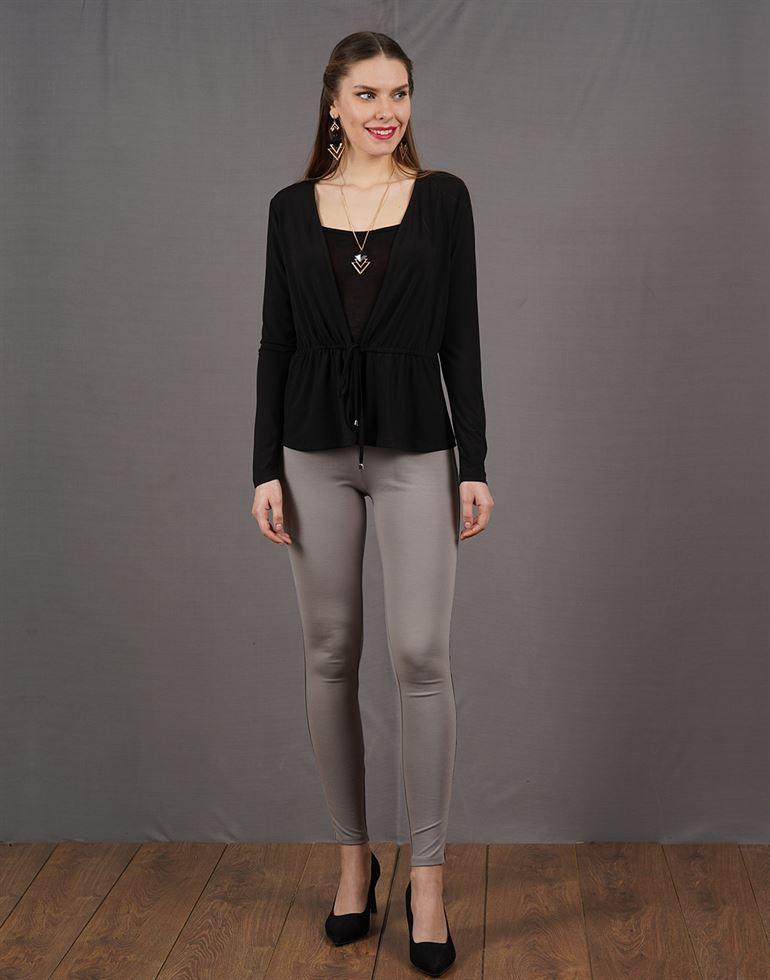 Kazo Women Casual Wear Solid Shrug