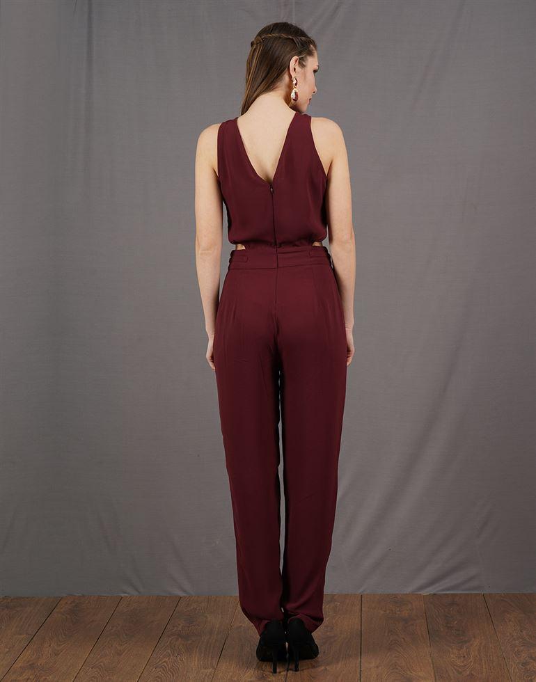 Kazo Women Casual Wear Solid Jump Suit