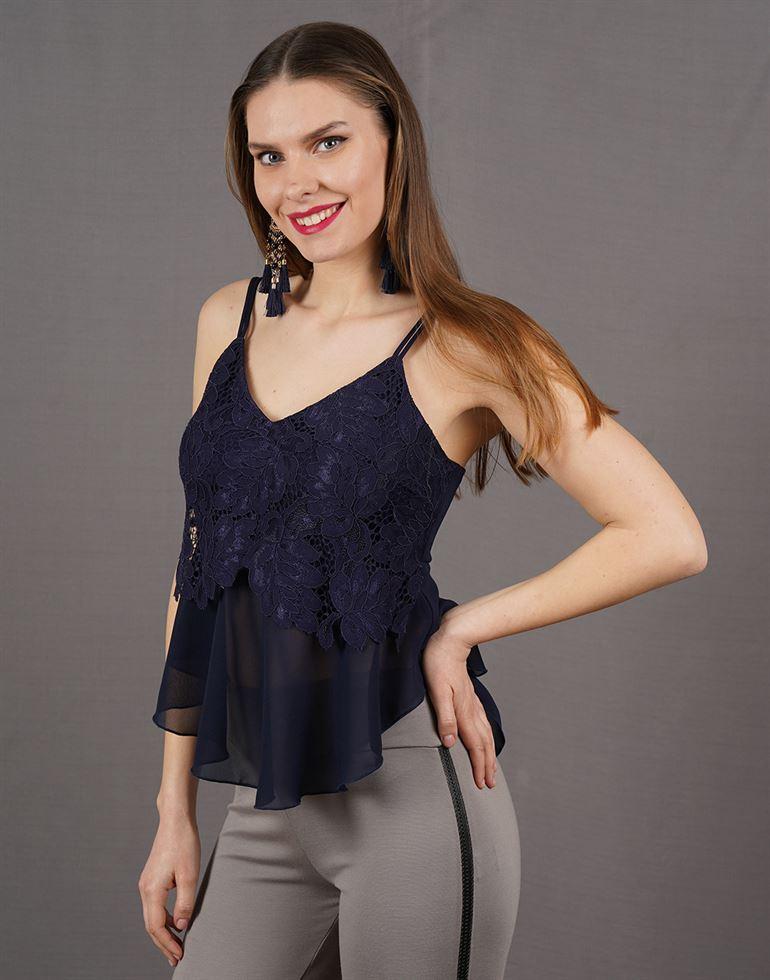 Kazo Casual Lace Women Top