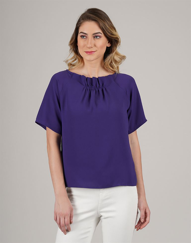 Kazo Casual Wear Solid Women Top