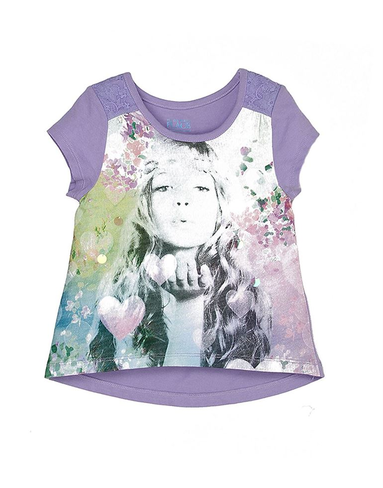The Children's Place Girls Casual Purple Top