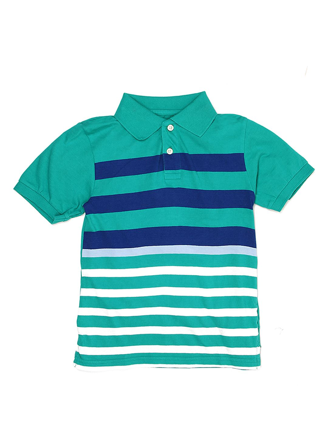 The Children's Place Boys Casual Wear Striped Polo T-Shirt