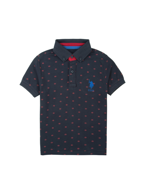 93f0a71e0 U.S. Polo Assn. Casual Printed Boys Polo T-Shirt ...