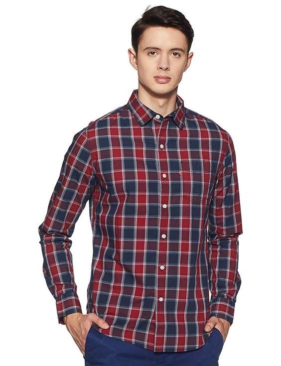 Levis Men Checkered Casual Wear Shirt