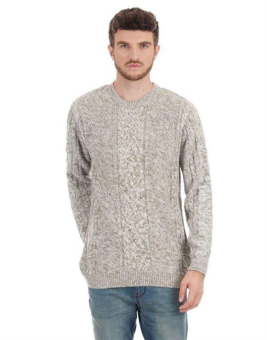 London Fog Men Self Design Casual Wear Sweater
