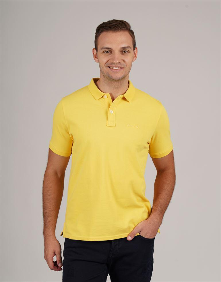 London Fog Men Casual Wear Solid Polo T-Shirt