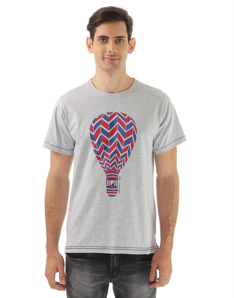 London Fog Men Casual Wear Graphic Print  T-Shirt