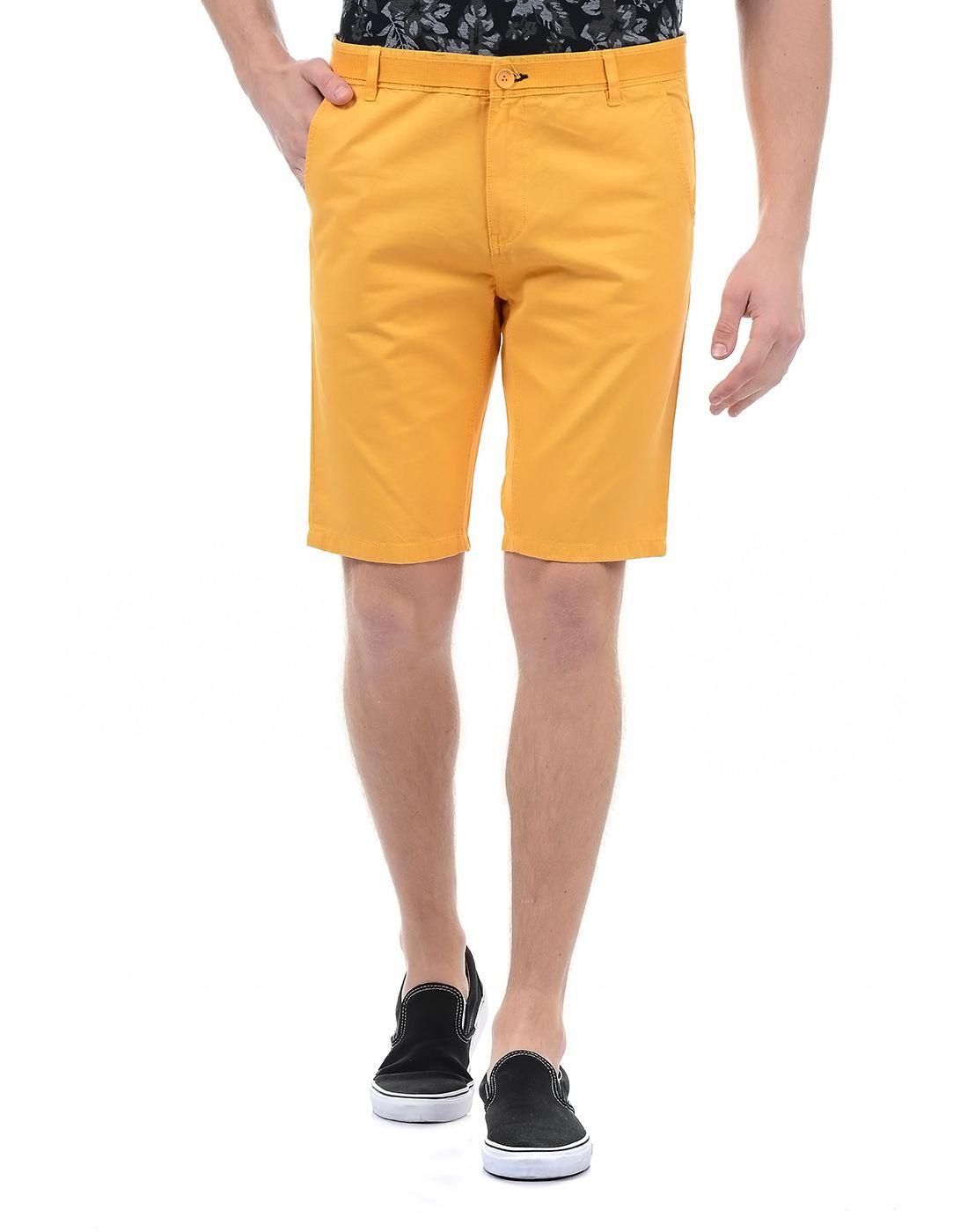 London Fog Men Casual Wear Solid Short