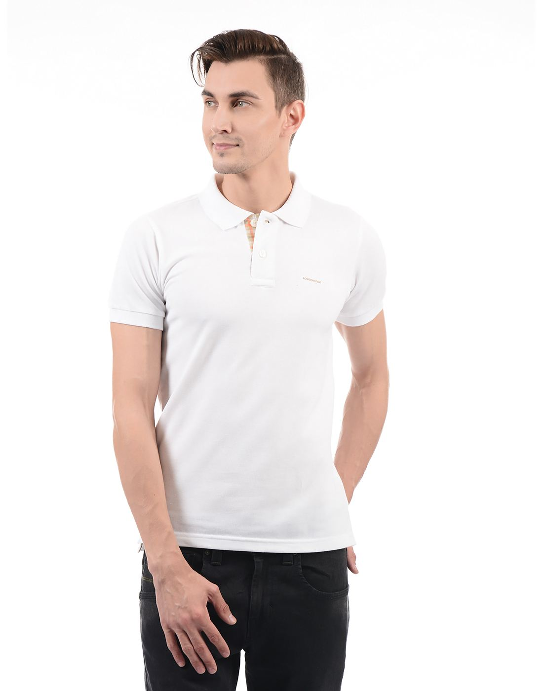 London Fog Men Casual Wear Solid  T-Shirt