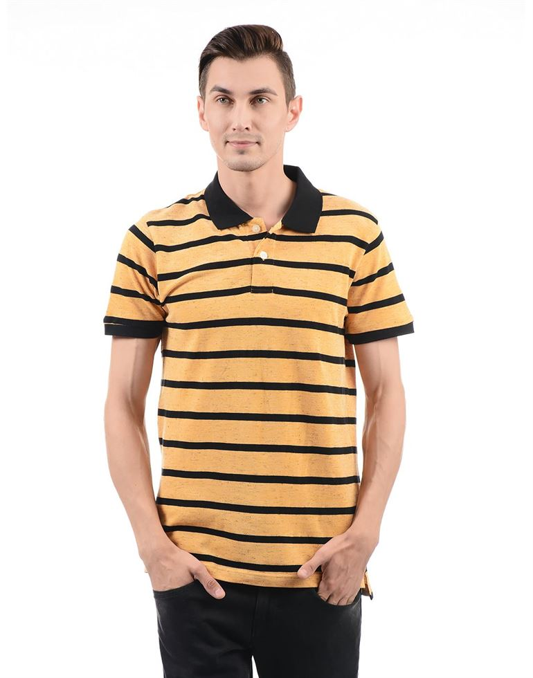 London Fog Men Casual Wear Striped T-Shirt