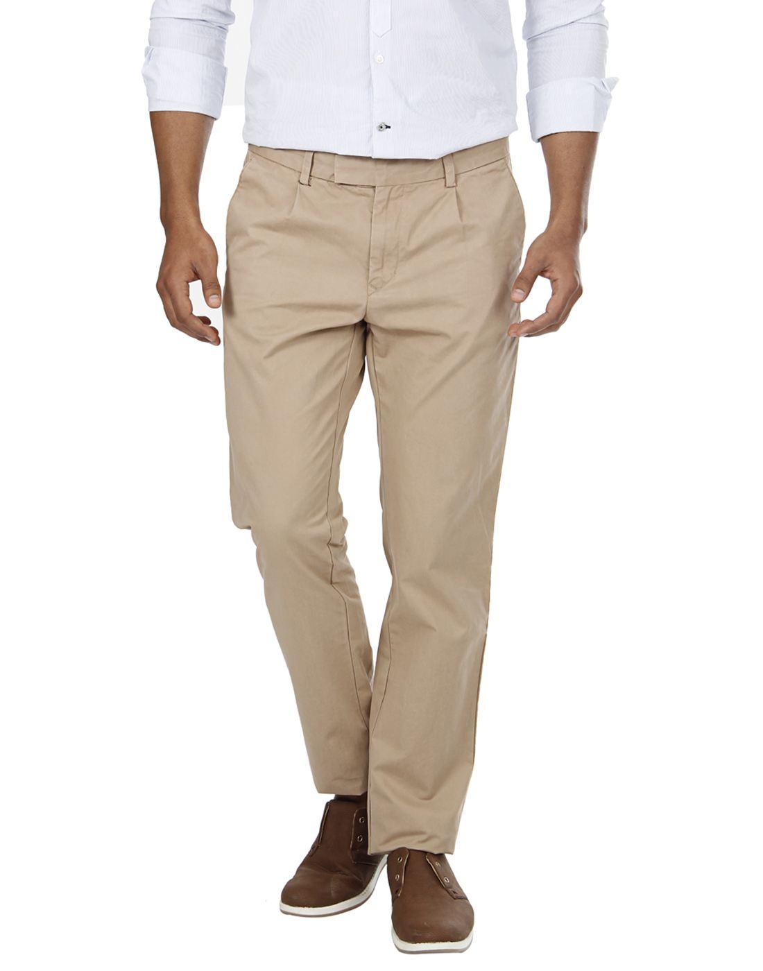 London Fog Men Casual Wear Solid  Trouser