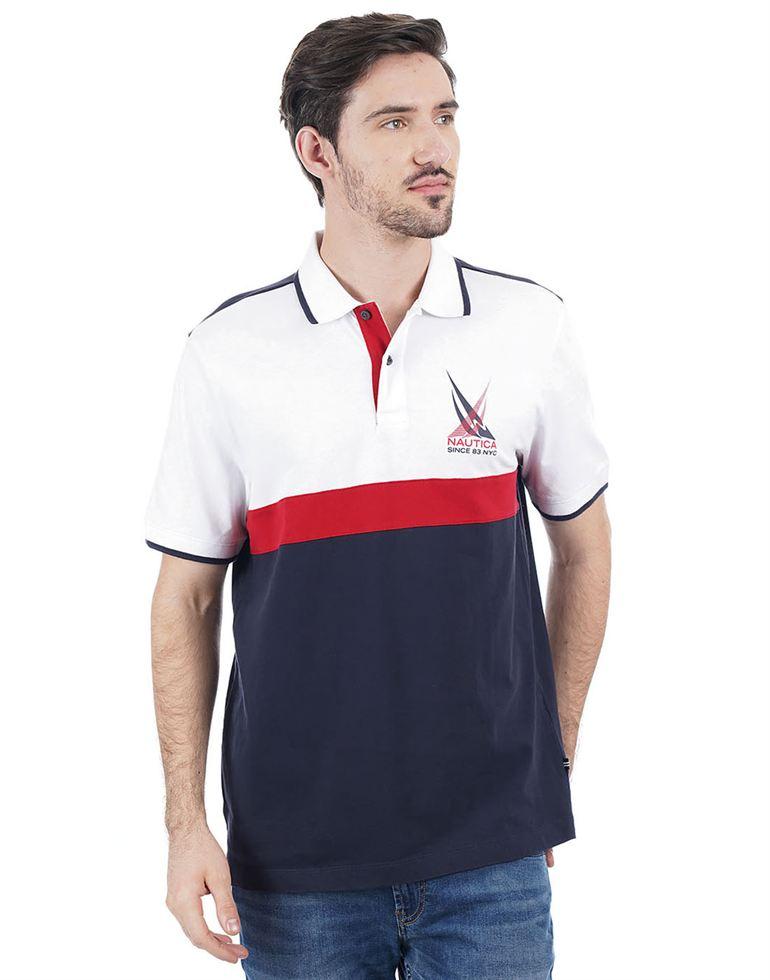 Nautica Men Casual Wear Solid Polo T-Shirt