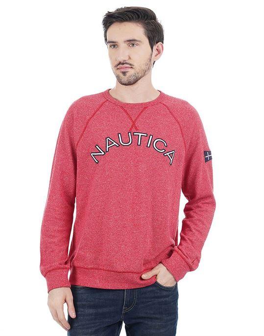 Nautica Men Casual Wear Solid Sweatshirt