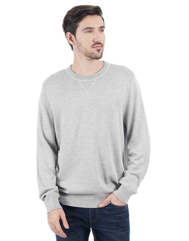 Nautica Men Casual Wear Solid Pullover