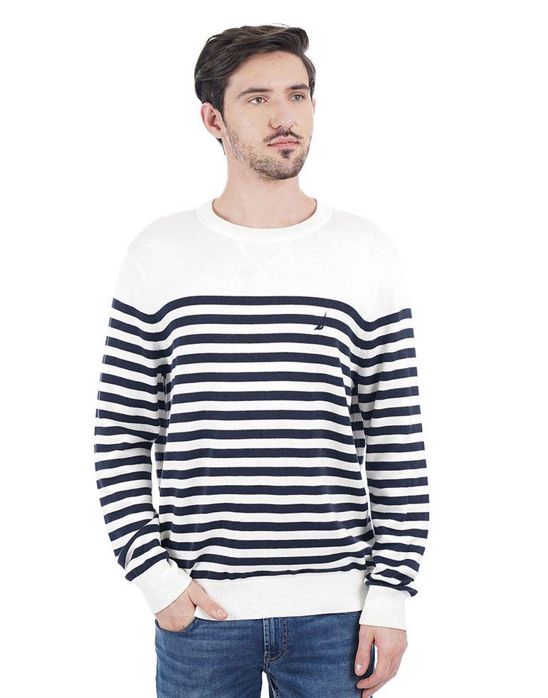 Nautica Men Casual Wear Striped Pullover