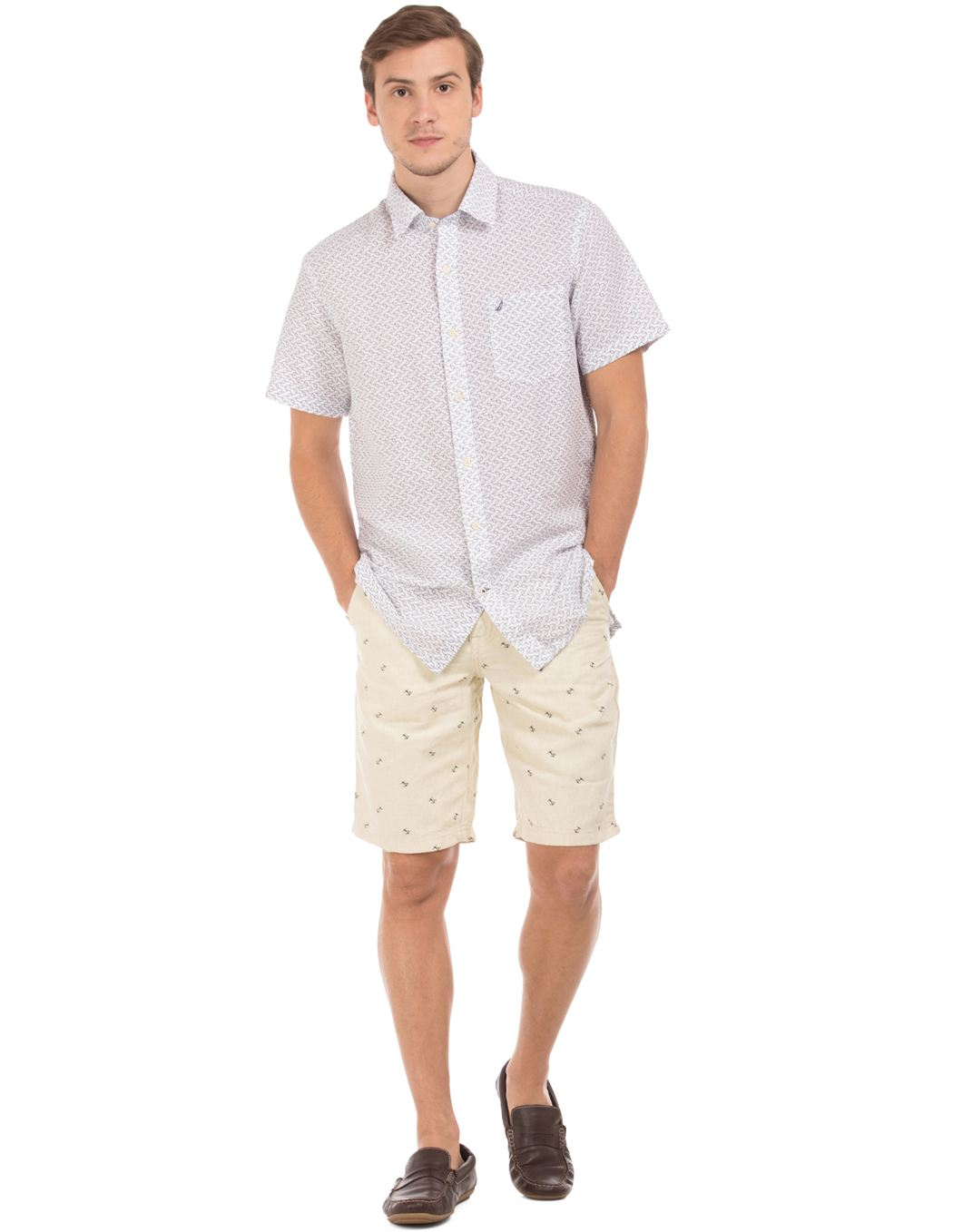 Nautica Men Casual Wear Printed Shorts