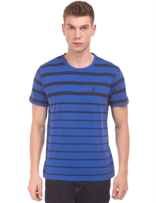 Nautica Men Casual Wear Striped T-Shirt