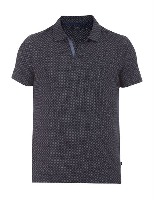 Nautica Men Casual Wear Printed Polo T-Shirt