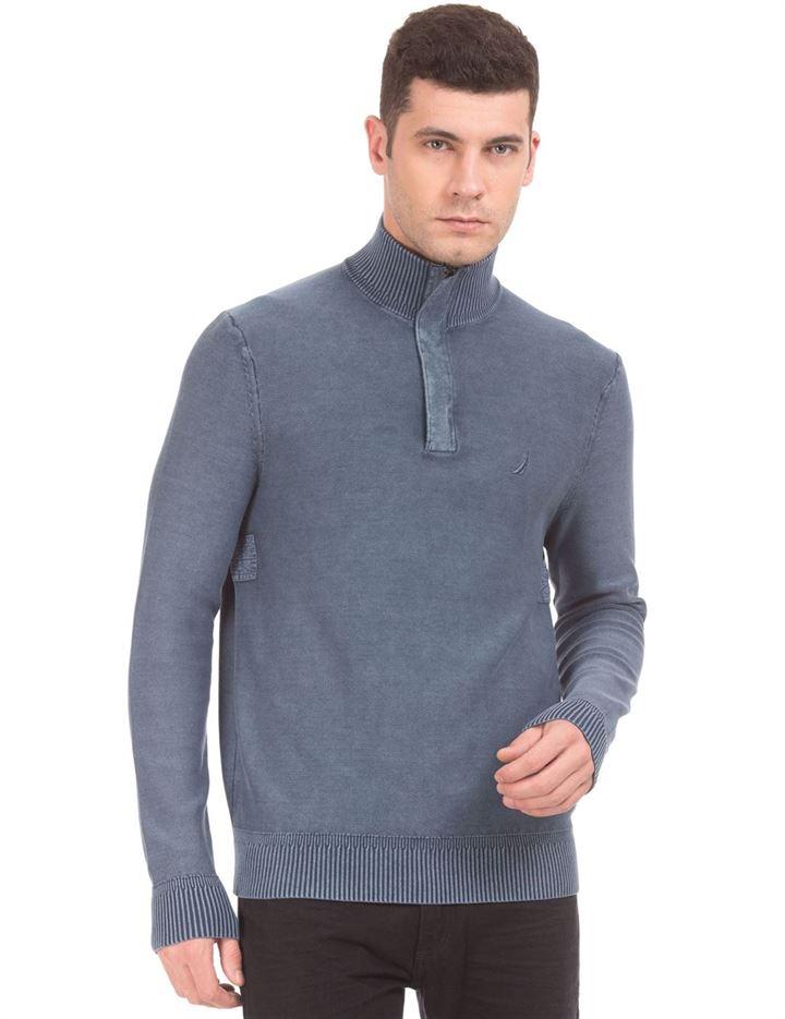Nautica Men Dark Blue Sweater