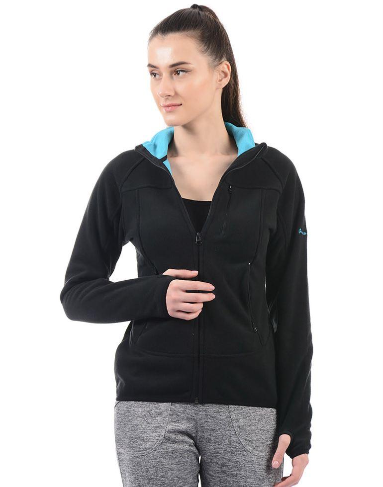 On-Vers Women Black Jacket