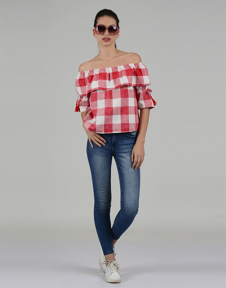 Only Casual Checkered Women Top