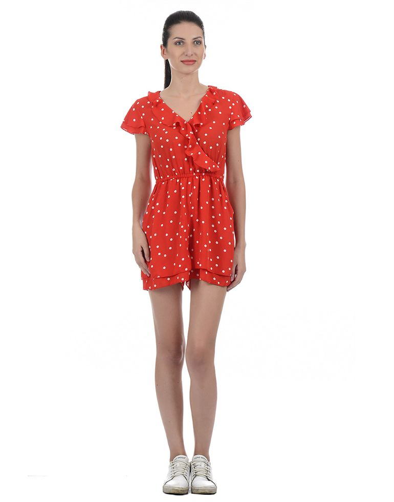Only Casual Polka Print Women Jump Suit