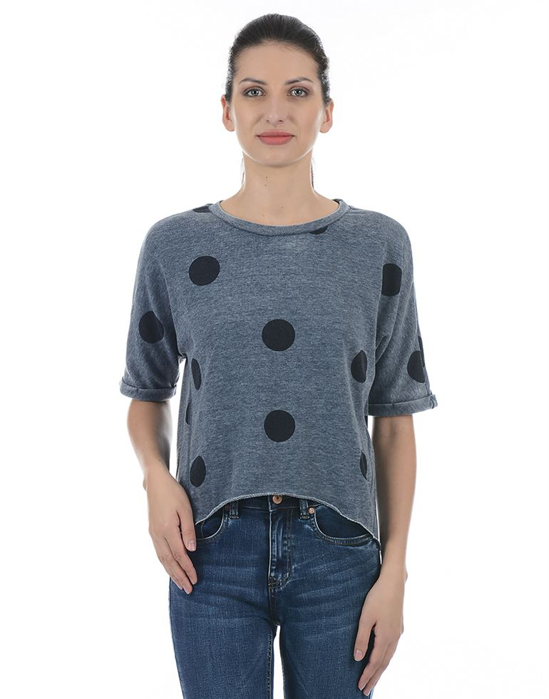 Only Casual Polka Print Women Sweatshirt