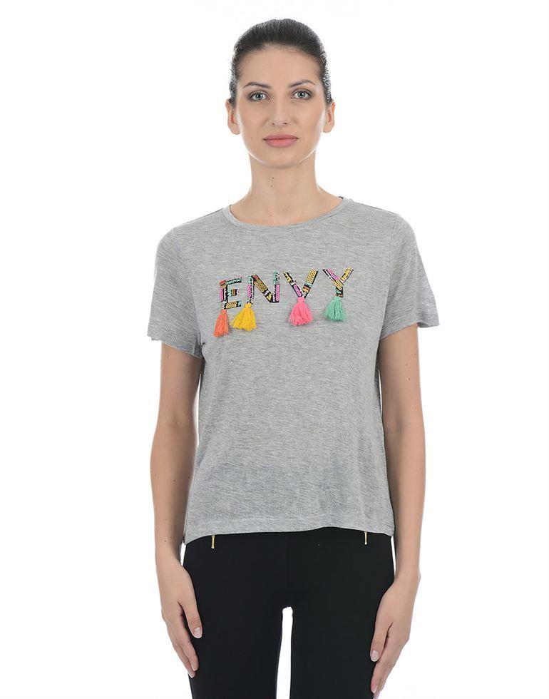 Only Women Casual Grey T-Shirt