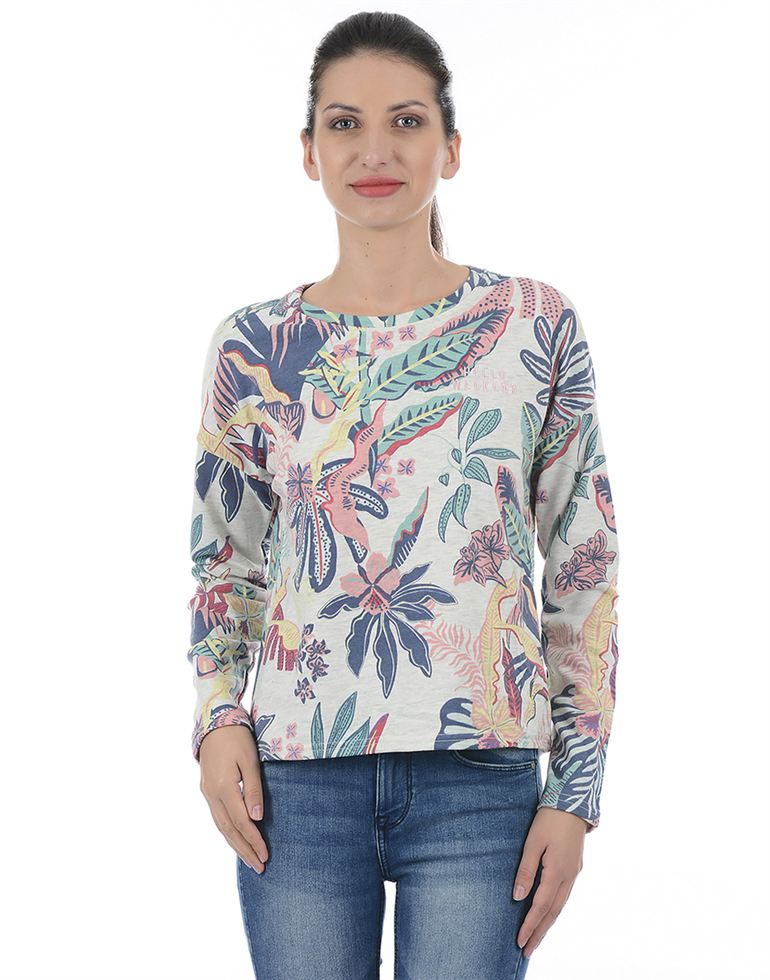 Only Casual Floral Print Women Sweatshirt