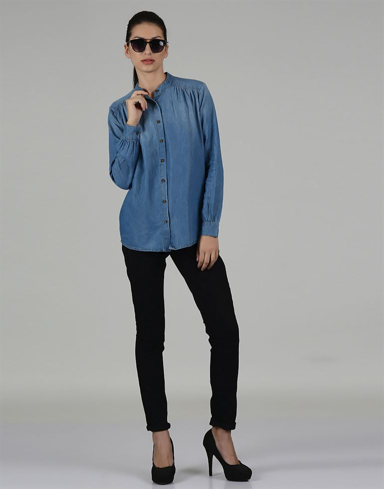 Only Casual Solid Women Shirt