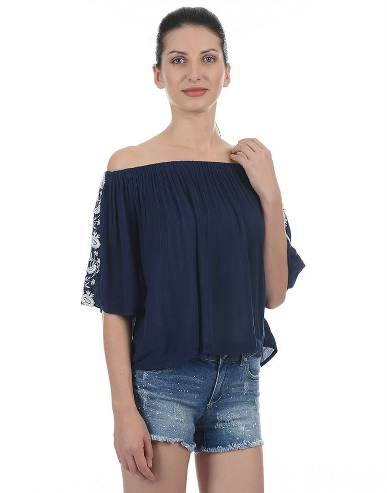 Only Casual Embroidered Women Top