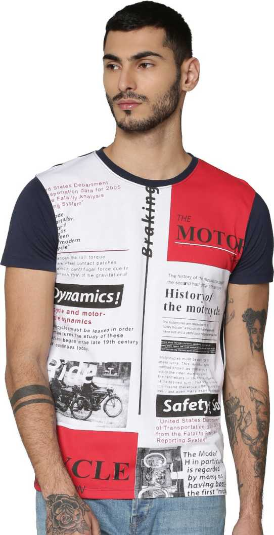 Only N Sons Men Printed Casual Wear T-Shirt
