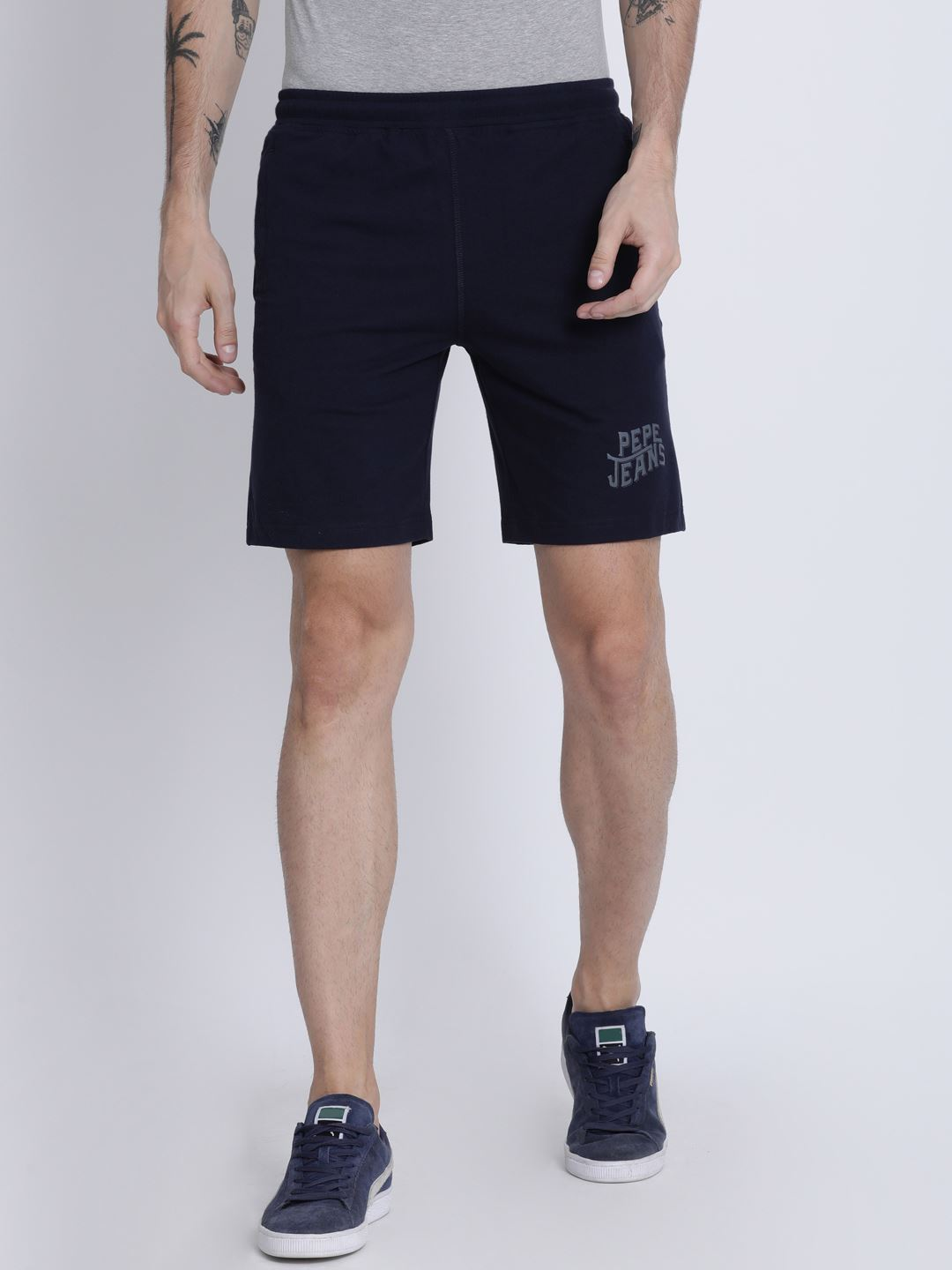 Pepe Jeans London Men Solid Shorts